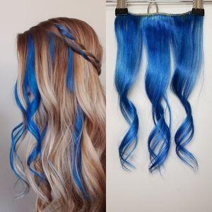 Bellami Bright Blue Clip-In Human Hair Extension